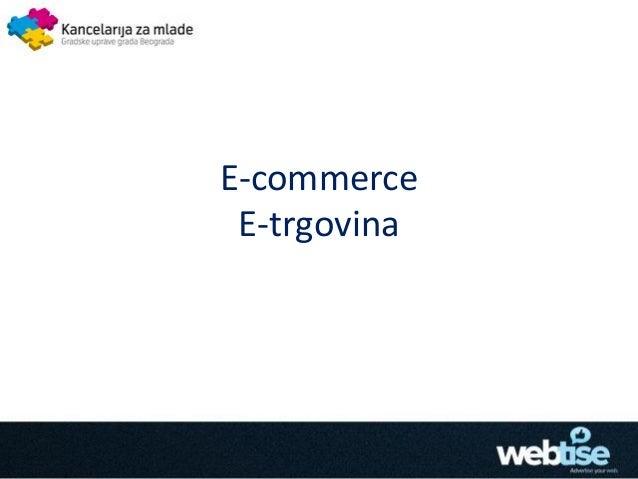 E-commerce E-trgovina