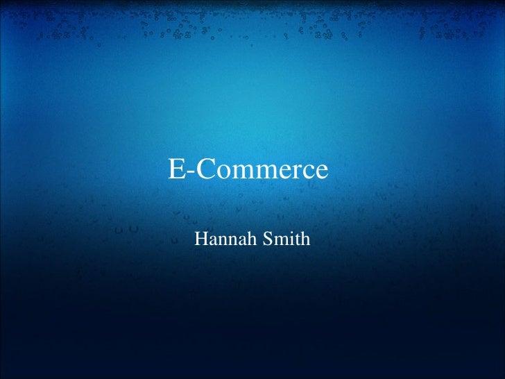 E commerce/ Electronic Health Records