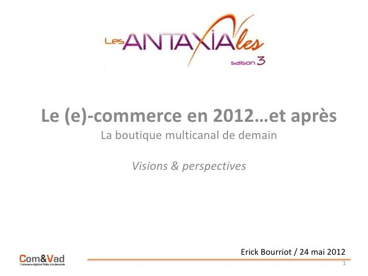 Ecommerce 2012-synthese3