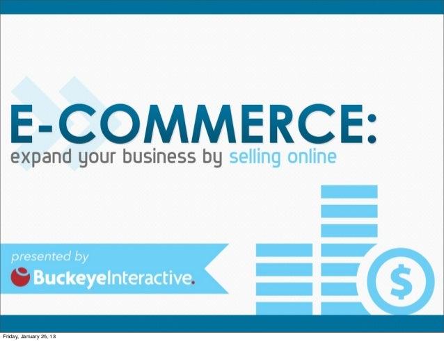 E-Commerce by Buckeye Interactive