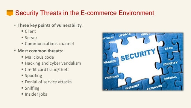 security threats of e commerce 8 copyright © 2002 pearson education, inc slide 5-43 policies, procedures, and laws § developing an e -commerce security plan §perform a risk assessment §develop.