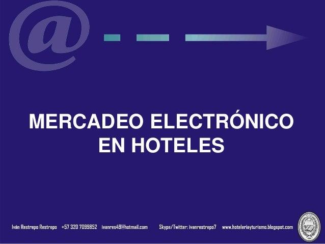 MERCADEO ELECTRÓNICO EN HOTELES