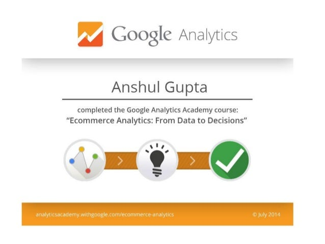 Ecommerce analytics from data to decisions
