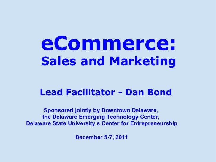 eCommerce Course - Dan Bond - Dec. 2011