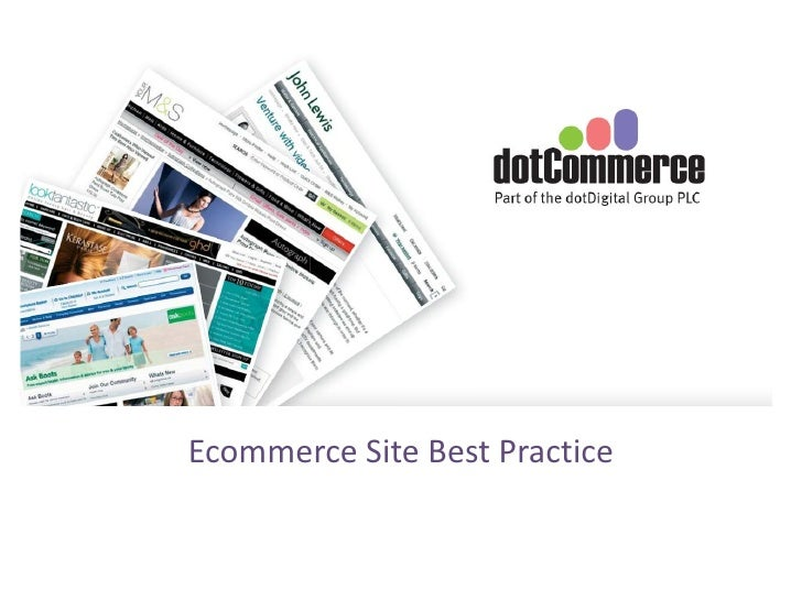 Ecommerce Site Best Practice