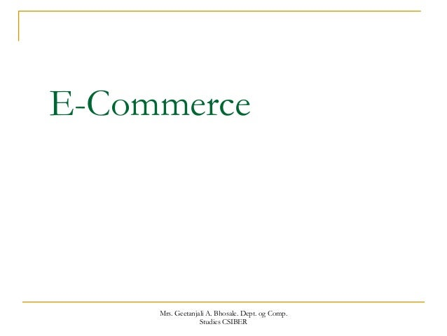 Ecommerce final