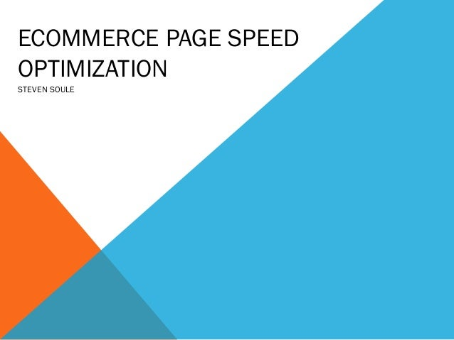 Ecommerce page speed optimization