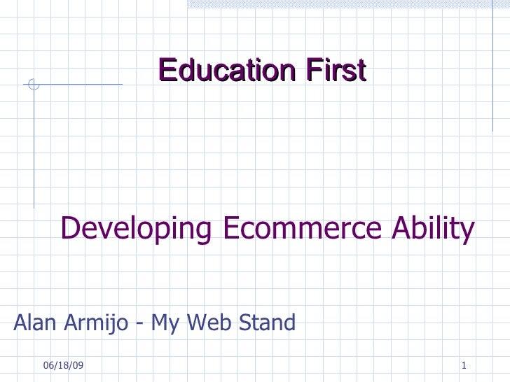 Ecommerce Website Seminar