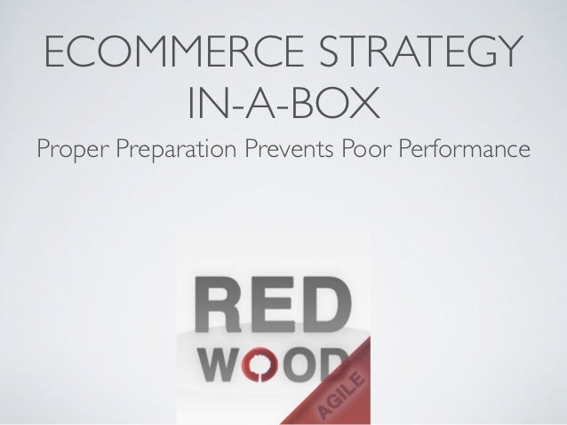 ECOMMERCE STRATEGY     IN-A-BOXProper Preparation Prevents Poor Performance