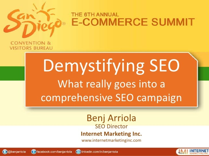 Demystifying SEO - What really goes into a comprehensive SEO campaign