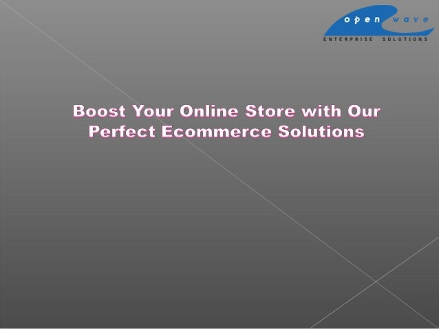 Boost Your Online Store with Our Perfect Ecommerce Solutions