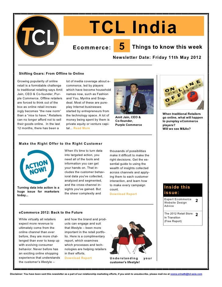 TCL India                                                      Ecommerce:                               5          Things ...