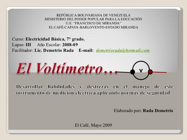 """REPÚBLICA BOLIVARIANA DE VENEZUELA MINISTERIO DEL PODER POPULAR PARA LA EDUCACIÓN U.E. """"FRANCISCO DE MIRANDA"""" EL CAFÉ-CAPA..."""