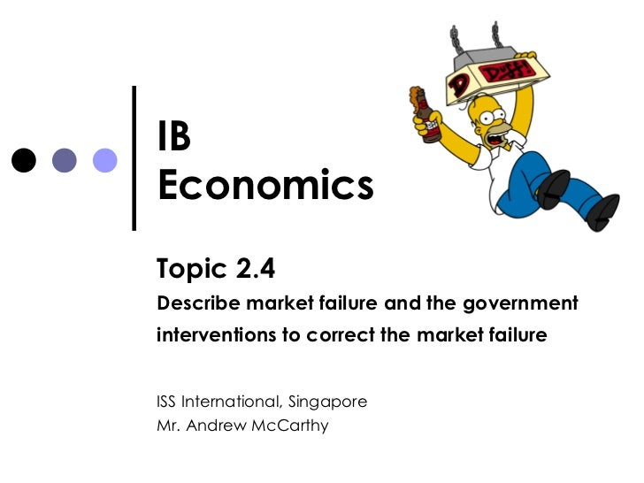 IB Economics Topic 2.4 Describe market failure and the government interventions to correct the market failure   ISS Intern...
