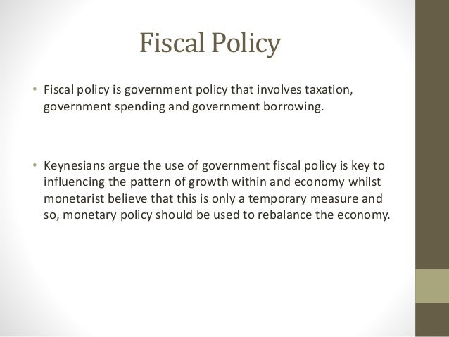 fiscal policy essay