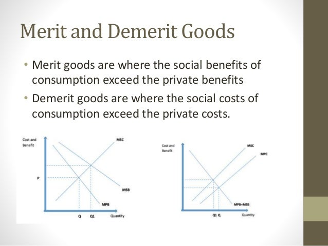 merit and demerit of market economy Why are merit goods actually a type of market  is labour market - private, public, merit or demerit  of merit goods in an economy considered.