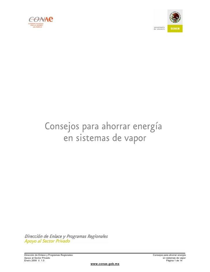 Dirección de Enlace y Programas Regionales                      Consejos para ahorrar energía Apoyo al Sector Privado     ...