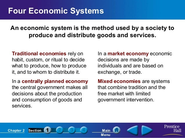 three main types of economic systems economics essay Although socialists and communists would scoff at the idea, the center for the moral defense of capitalism argues that laissez-faire capitalism is the only truly moral socio-economic system read their essays, weigh the philosophical evidence, and decide if the free market does indeed operate on the moral ideal of individual freedom.