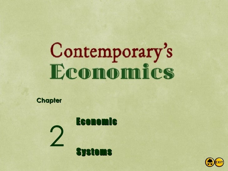 Chapter Economic Systems 2