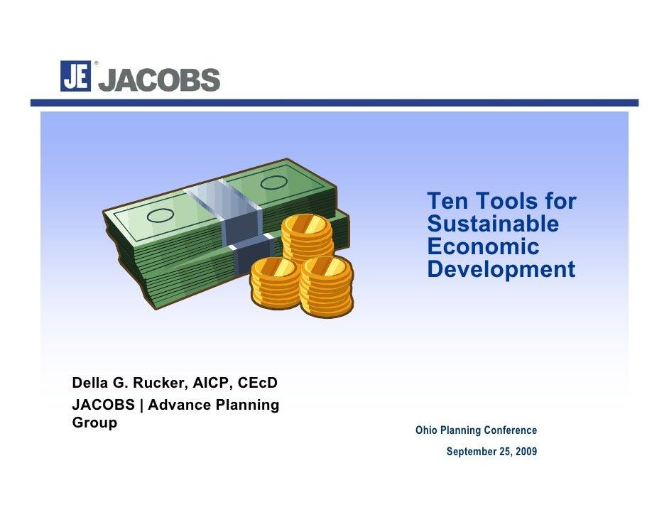 Ten Tools for                                 Sustainable                                 Economic                        ...