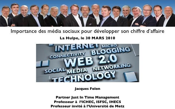 Heck Jacques Folon Partner Just In Time Management Professeur à  l'ICHEC, ISFSC, IHECS Professeur invité à l'Université de...