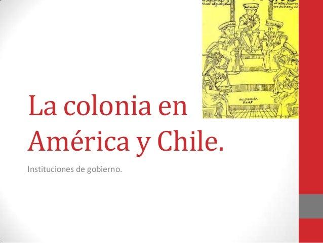 Instituciones y Economía colonial