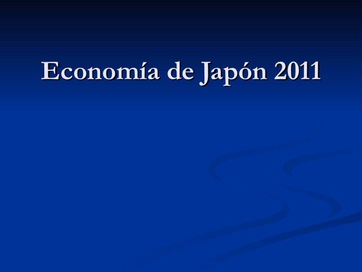 Economía de Japón 2011
