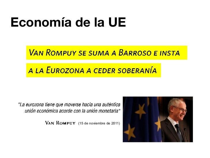 Economía de la Unión Europea EU - Van Rompuy