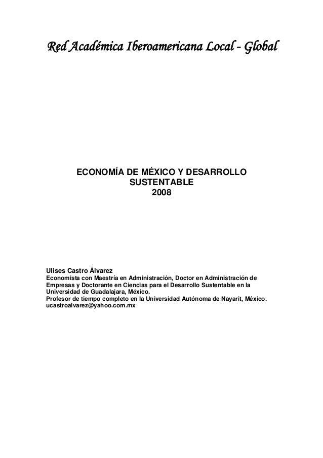 Economía de méxico y desarrollo sustentable