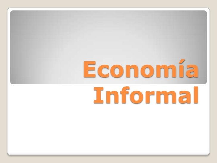 Economía Informal<br />