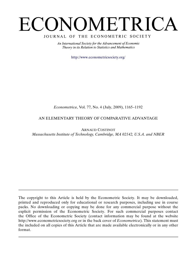 http://www.econometricsociety.org/                          Econometrica, Vol. 77, No. 4 (July, 2009), 1165–1192          ...