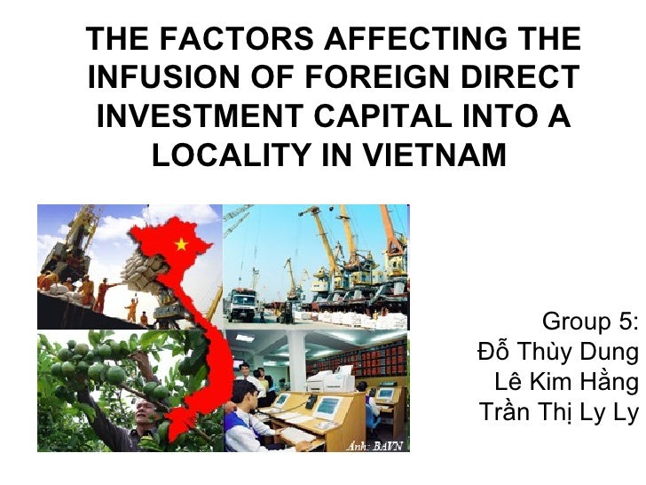 THE FACTORS AFFECTING THEINFUSION OF FOREIGN DIRECT INVESTMENT CAPITAL INTO A    LOCALITY IN VIETNAM                      ...