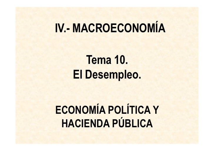 Economia desempleo