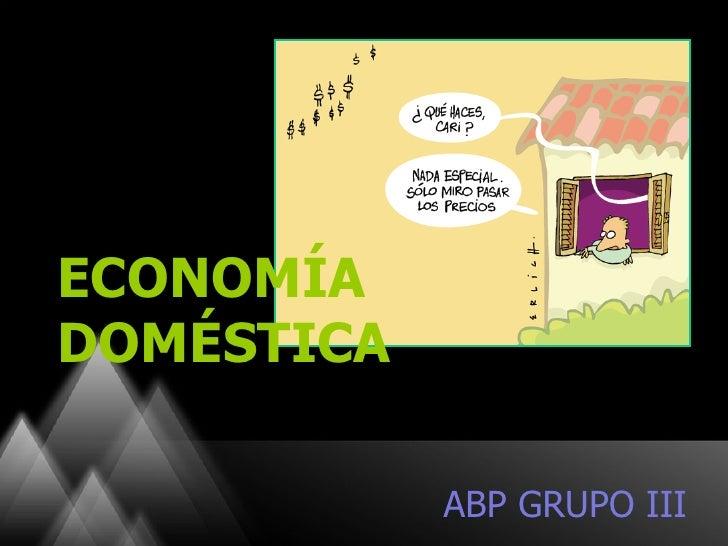 Economia familiar - Economia domestica consejos ...
