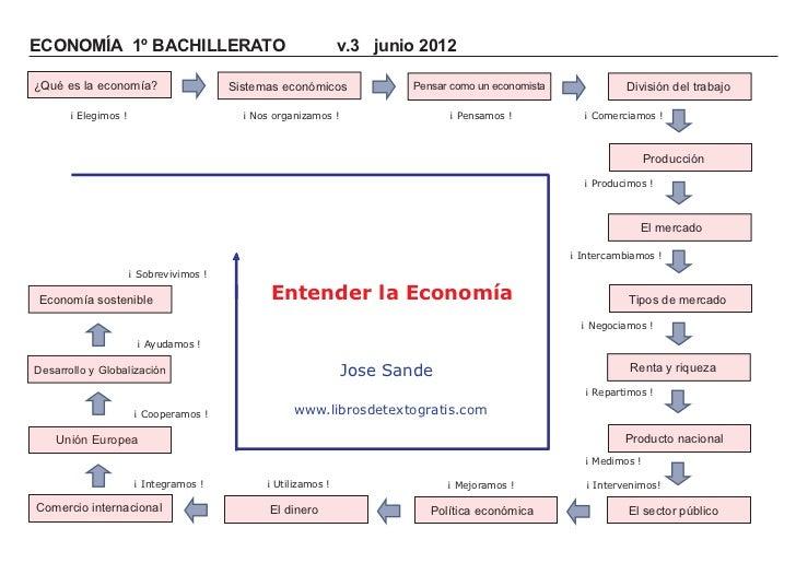 ECONOMÍA 1º BACHILLERATO                                       v.3 junio 2012¿Qué es la economía?                    Siste...