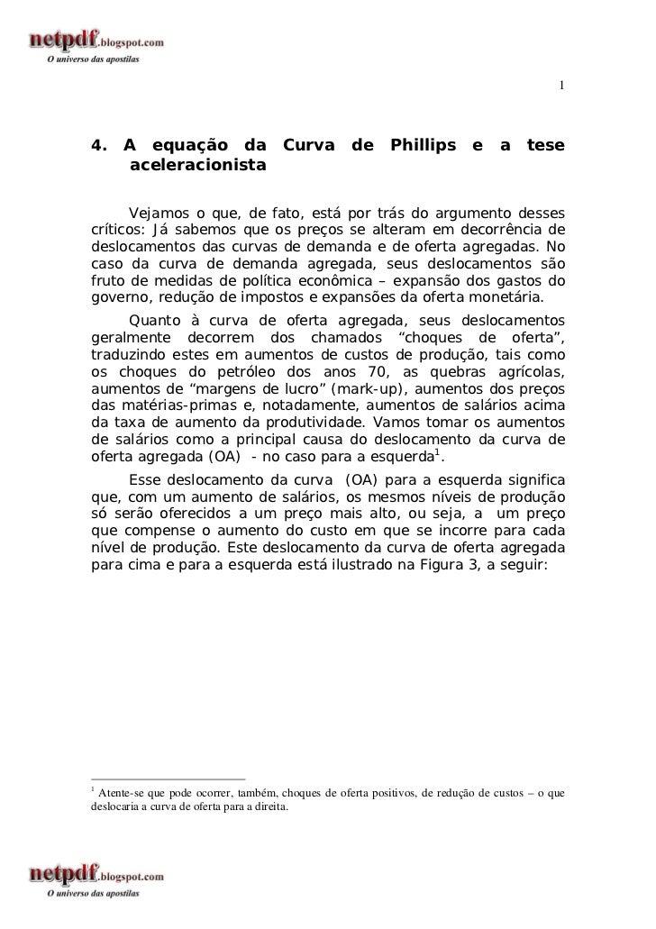 14.    A equação da                    Curva        de      Phillips        e     a    tese       aceleracionista       Ve...