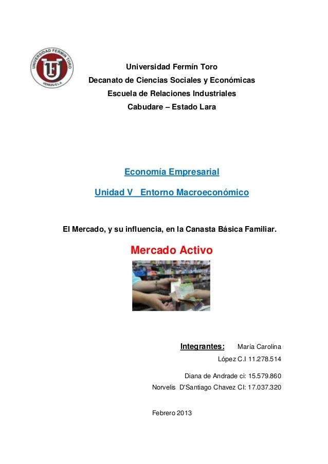 Universidad Fermín Toro       Decanato de Ciencias Sociales y Económicas            Escuela de Relaciones Industriales    ...