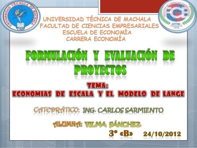 UNIVERSIDAD TÉCNICA DE MACHALAFACULTAD DE CIENCIAS EMPRESARIALES      ESCUELA DE ECONOMÍA       CARRERA ECONOMÍA   ALUMNA: