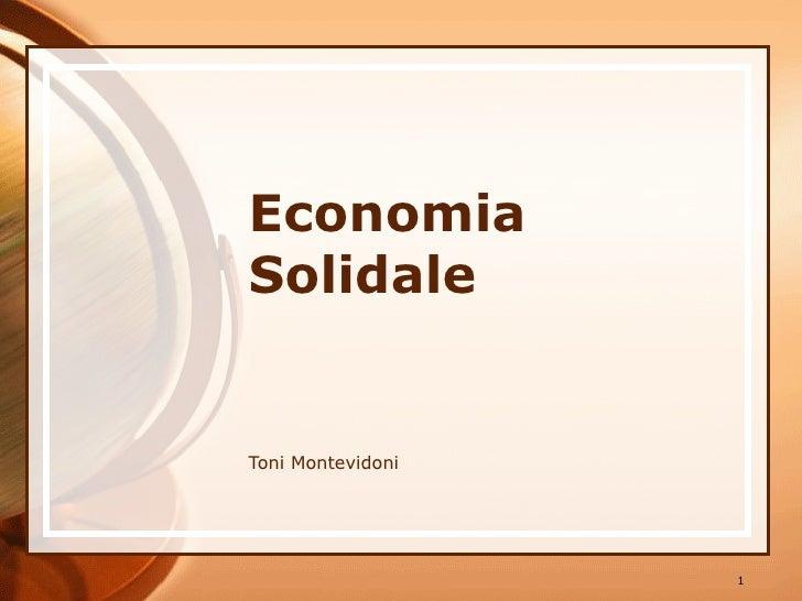 Economia Solidale Toni Montevidoni
