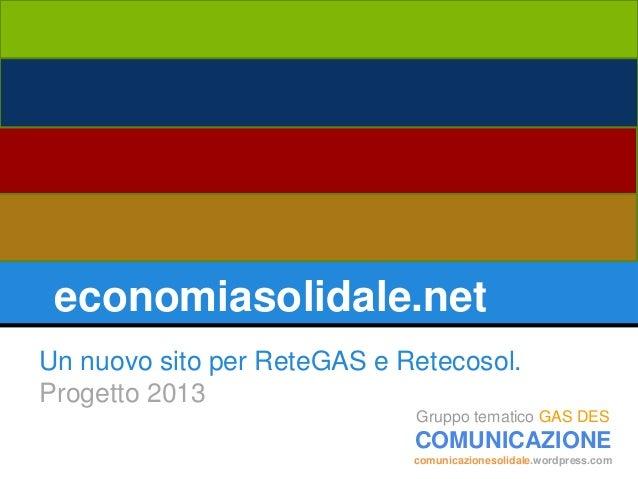 Economiasolidale.net   presentazione progetto v2.2