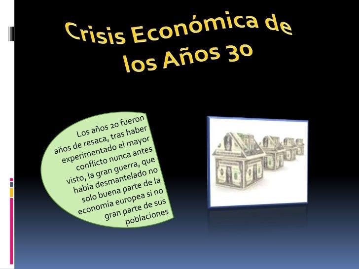 el crack del 29 y la crisis actual de nuestros