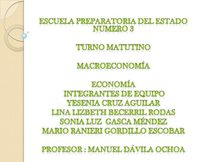 diapositivas de economia (macroeconomia )
