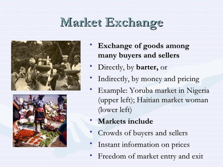 Exchange market definition
