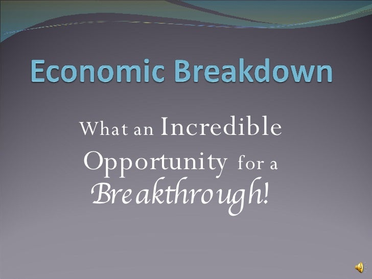 What an  Incredible   Opportunity   for a  Breakthrough!