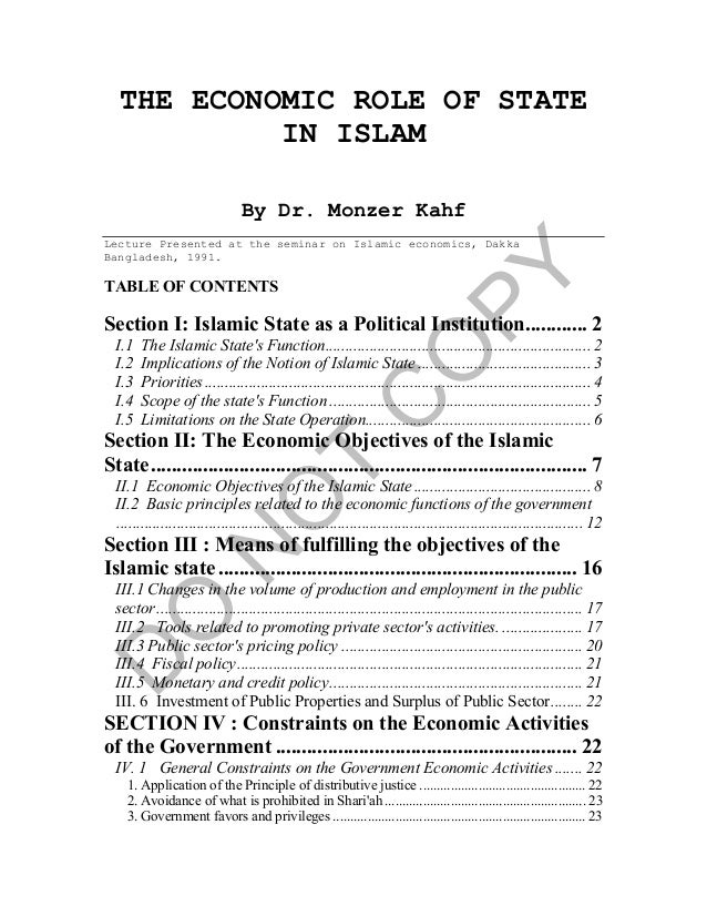 Economic role-of-state-in-islam
