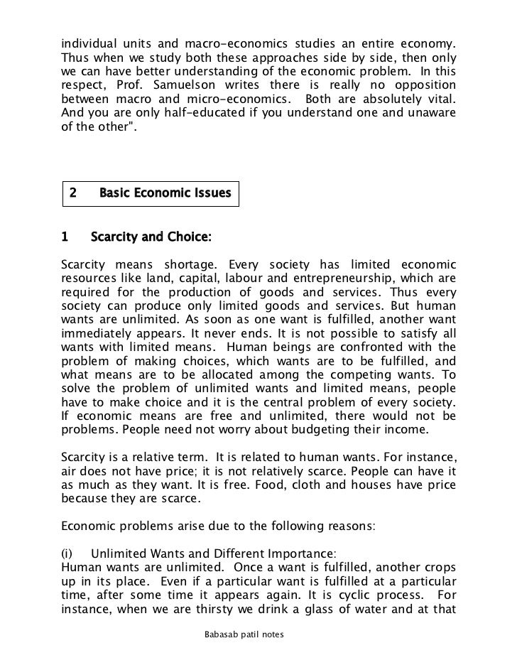 how to solve scarcity in the economy essay