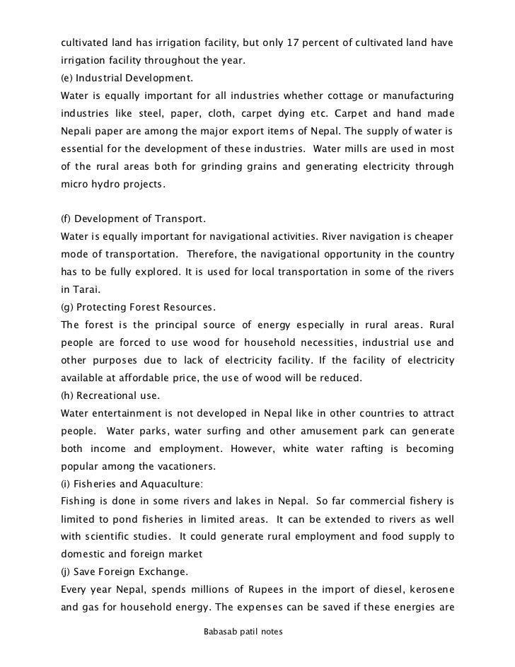 Plan of development thesis
