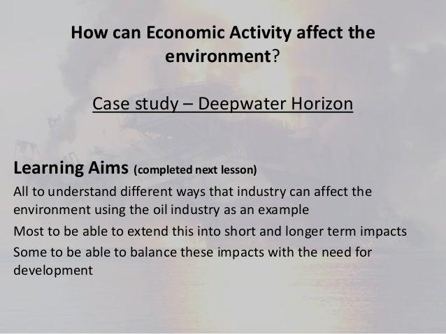 Economic activity and the environment deepwater horizon