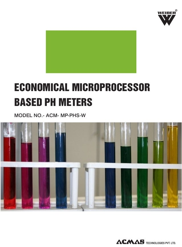 R  ECONOMICAL MICROPROCESSOR BASED PH METERS MODEL NO.- ACM- MP-PHS-W