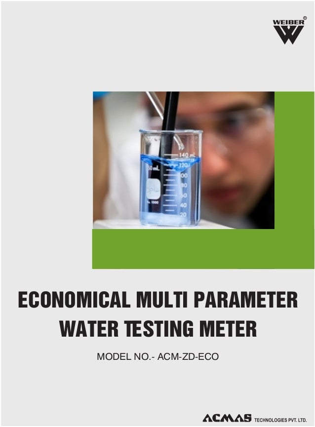 R  ECONOMICAL MULTI PARAMETER WATER TESTING METER MODEL NO.- ACM-ZD-ECO